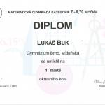 diplom Lukáše Buka